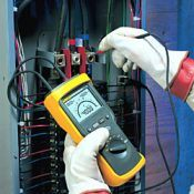 Electrical officer checking insulation resistance