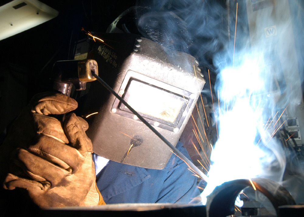 stick welding Shielded metal arc welding (smaw), also known as manual metal arc welding (mma or mmaw), flux shielded arc welding or informally as stick welding, is a manual arc welding process that uses a consumable electrode covered with a flux to lay the weld.