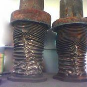 Damaged-expansion-joint-steam hammering