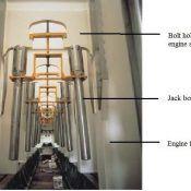 Jack bolt in empty engine frame