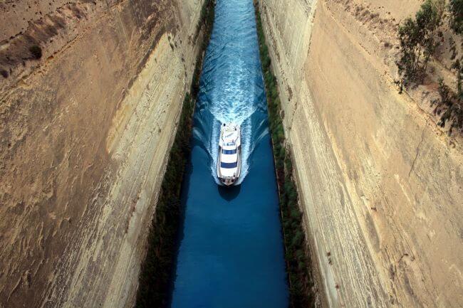 corinth canal tour