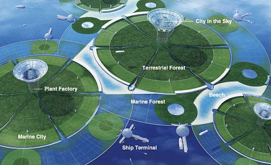 green1 Green Float: Eco friendly Floating Cities at the Sea