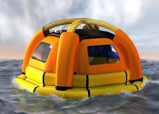 sea ketel 1 Concept: A Life Raft that Makes Drinking Water from Seawater