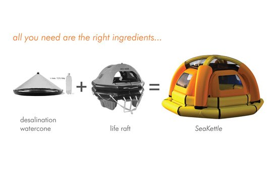 sea kettle 2 Concept: A Life Raft that Makes Drinking Water from Seawater