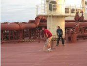 Playing Cricket on board Very Large Crude Carrier (VLCC) Ship