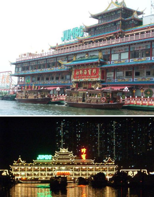 floating restaurants jumbo kingdom  10 Amazing Floating Restaurants in the World