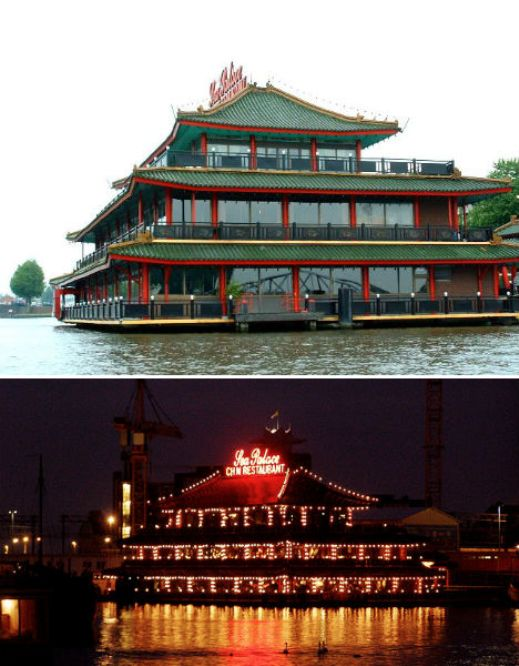 floating restaurants sea palace amsterdam  10 Amazing Floating Restaurants in the World