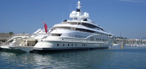 In Port Vauban Superyacht Pelorus   One of the Worlds Largest Private Superyachts