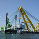 5 Massive Crane Ships Operating at the Sea