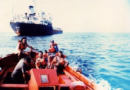 Rescue from ship