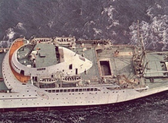 Sacannah Top view NS Savannah   The Worlds First Nuclear Merchant Ship
