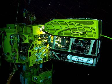 ROV working on a subsea structure