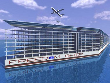 Freedom ship floating city  design