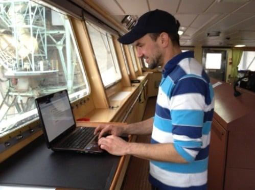 internet on ship