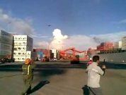Raw Video: Huge Gantry Crane Collapses After Getting Hit By Ship
