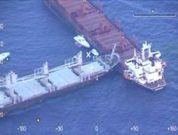 Real Video: Two Bulk Carrier Ships Collision in the Aegean Sea