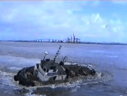 Raw Video : Tug Boat Almost Tips Over While Towing a Ship