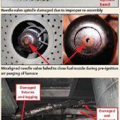 misaligned needle valve