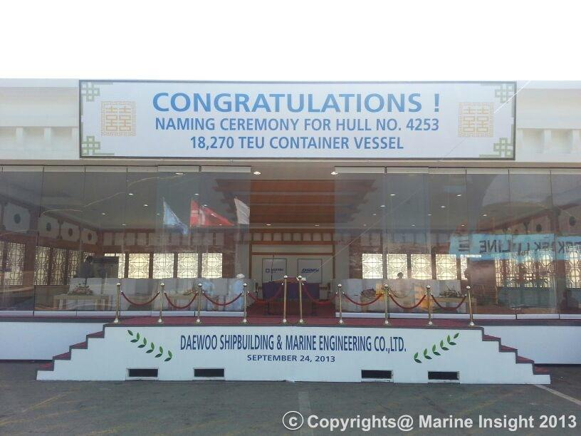 Maersk Triple E Naming Ceremony