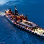 Stunning Images of a Nuclear Ice Breaker in North Pole