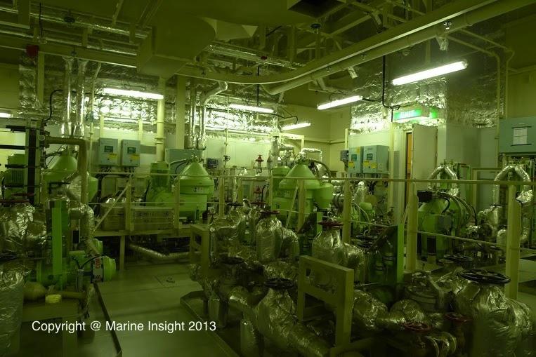 engine room world's largest ship