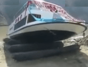 Raw Video: US $2.7 Million Luxury Boat Sinks During Launching