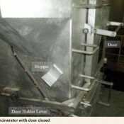 Incinerator with door closed