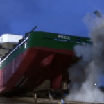 Watch: Launch of Platform Supply Vessel MV Breeze