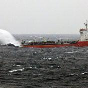 ship making splash