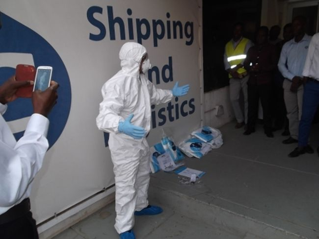 Ebola protection training