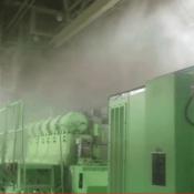 water mist over generator
