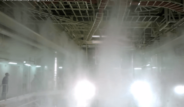 Water Mister System : How high pressure water mist fire fighting system for