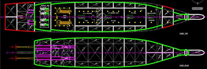 Figure 5: Tank top plan and Tank plan