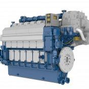 Picture of a 6-cylinder in-line Wärtsilä 34DF engine Credits: wartsila.com