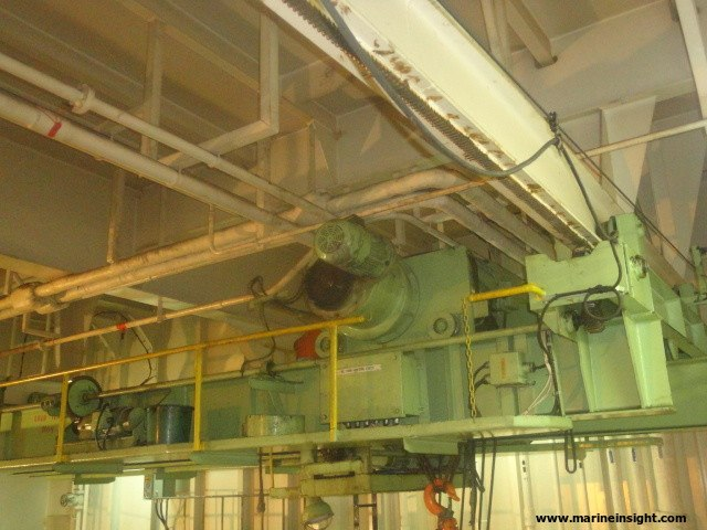 Engine room crane