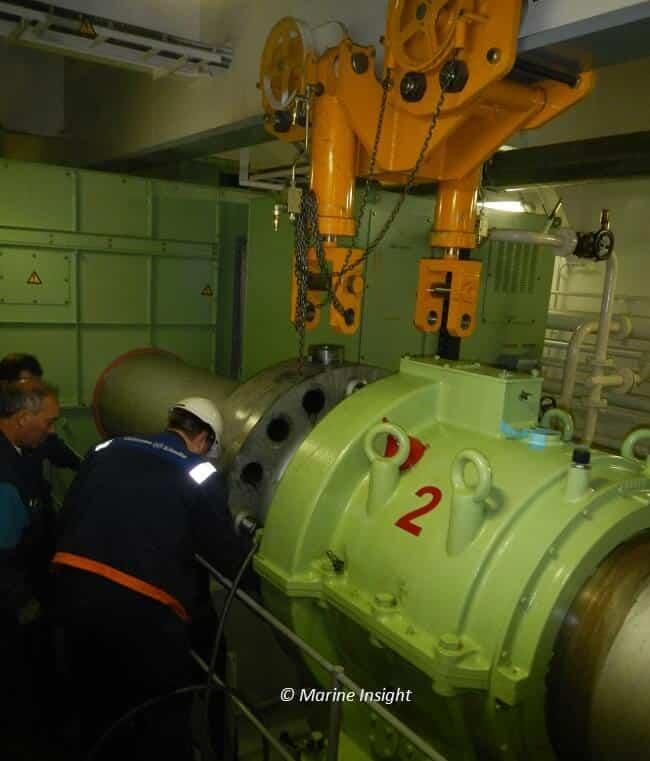 engine room chain block seafarer