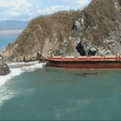 ship grounded aground