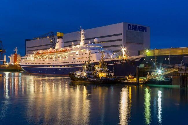 cruise ship marco polo leaves damen shiprepair vlissingen. Black Bedroom Furniture Sets. Home Design Ideas