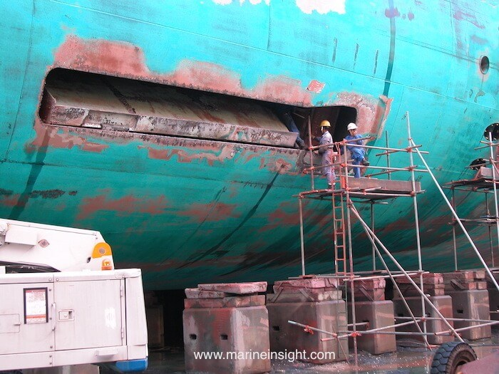 fin stabilizers of ship