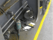 Real Life Accident: Grinder's Cutting Disc Breaks, Crew Member Suffers Deep Wound