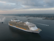 Watch: Drone Video of The Biggest Cruise Ship In The World