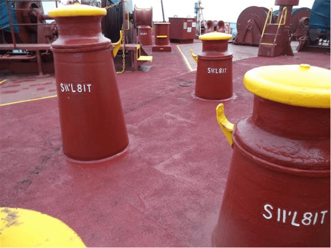 Pedestal Fairleads assist in guiding mooring lines for an appropriate lead.