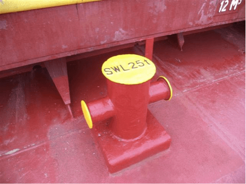Cruciform Bollards on Tankers in the Manifold area