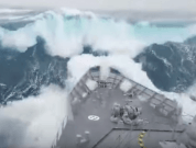 Watch: Navy Vessel In Storm, Smashing Through Waves In Southern Ocean