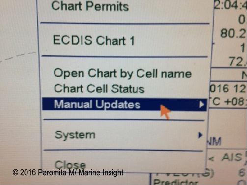 ecdis manual update