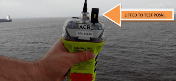 epirb testing on ship