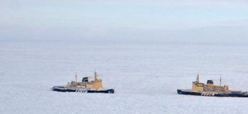 Four Vessels Stuck In Ice Off Chukotka Peninsula
