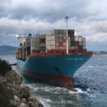 Watch: Maersk Containership Refloats After Running Aground Off Italy