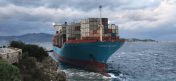 Maersk Gustov Aground