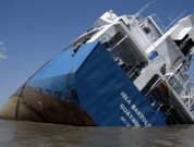 Watch: General Cargo Ship Runs Aground, Partially Sinks Off Ecuador